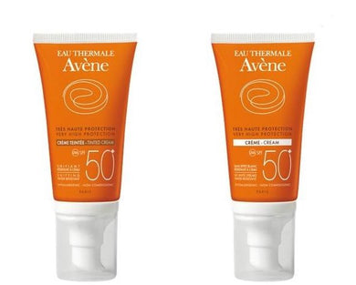A-Bloqueador Solar Crema Facial Incolora o con Color FPS 50+ 50 ml