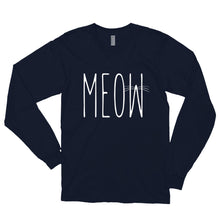 Load image into Gallery viewer, MEOW Long sleeve t-shirt (MADE IN THE USA)