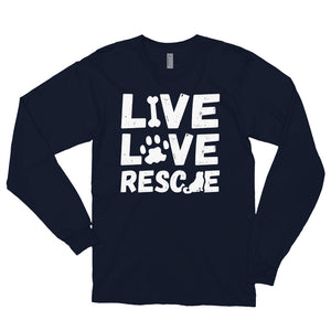 LIVE LOVE RESCUE Long sleeve t-shirt (MADE IN THE USA)