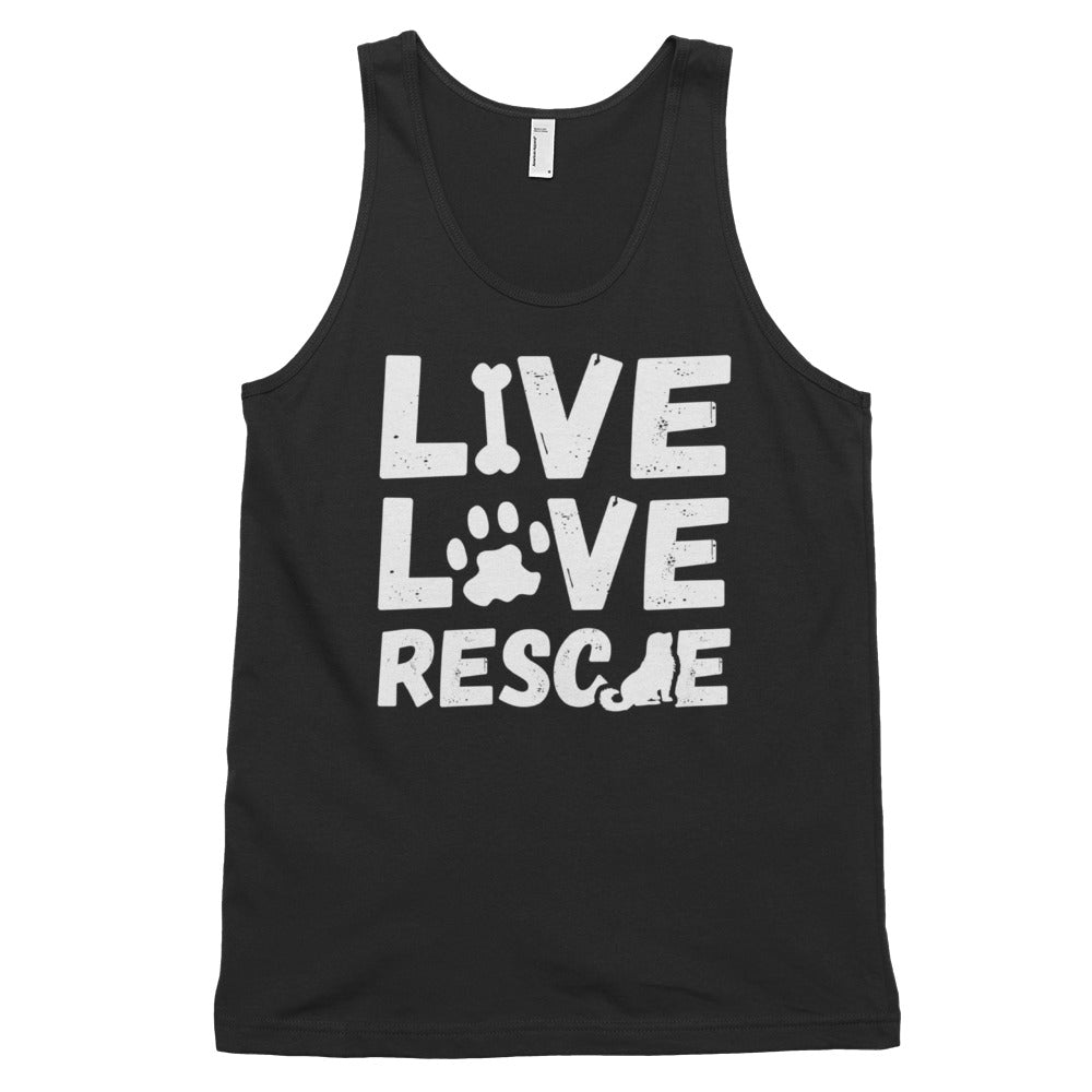 LIVE LOVE RESCUE Classic tank top (MADE IN THE USA)