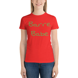 Barre Babe 2 Short sleeve women's t-shirt Made in the USA