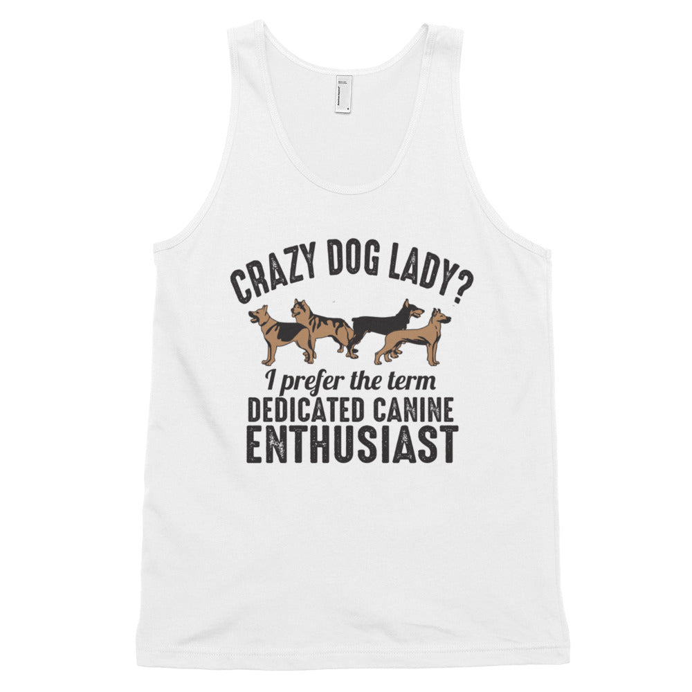 CRAZY DOG LADY Classic tank top (MADE IN THE USA)