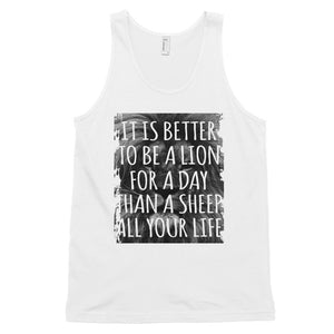 BETTER TO BE  A LION Classic tank top (MADE IN THE USA)