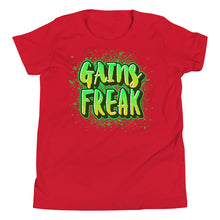 Load image into Gallery viewer, Gains Freak Youth Short Sleeve T-Shirt