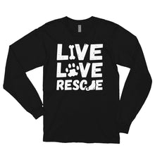 Load image into Gallery viewer, LIVE LOVE RESCUE Long sleeve t-shirt (MADE IN THE USA)