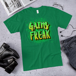Gains Freak Neon Green T-Shirt (Made in the USA)