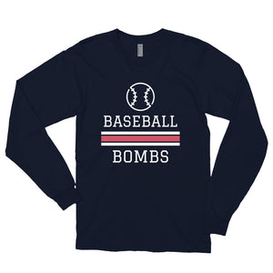 Baseballe Bombs Long sleeve t-shirt (Made in the USA)