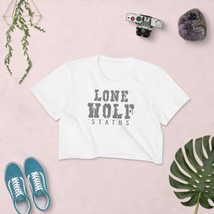 Lone Wolf Status Women's Crop Top (Made in the USA)