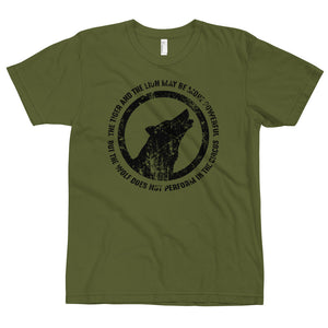 THE WOLF DOES NOT PERFORM IN THE CIRCUS T-Shirt (MADE IN THE USA)