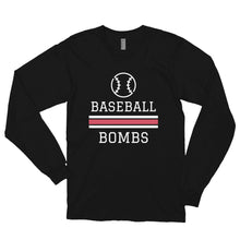 Load image into Gallery viewer, Baseballe Bombs Long sleeve t-shirt (Made in the USA)