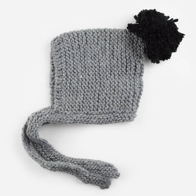 The Blueberry Hill - Ash Knit Bonnet - Grey/Black
