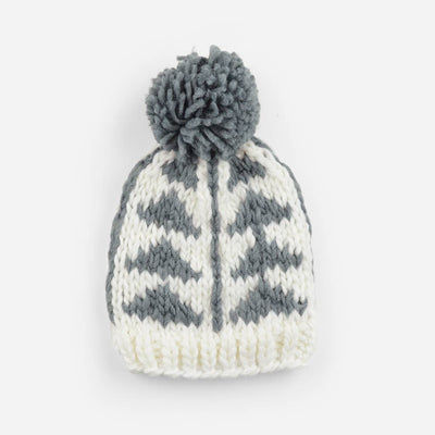 The Blueberry Hill - Blake Gray Triangle Knit Hat