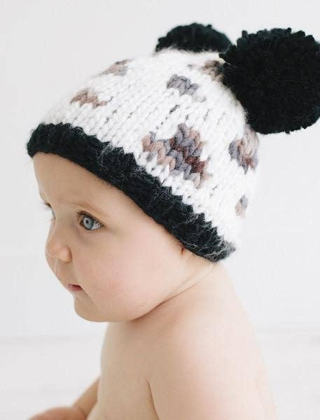 The Blueberry Hill - Natalie Leopard Pom Pom Knit Hat