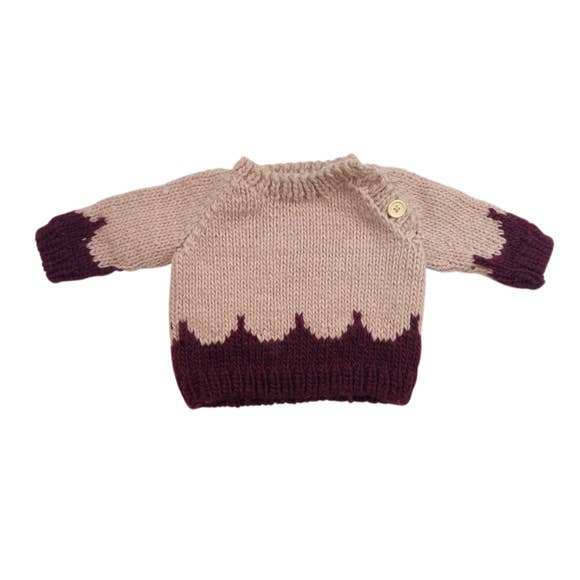 The Blueberry Hill - Scallop Sweater