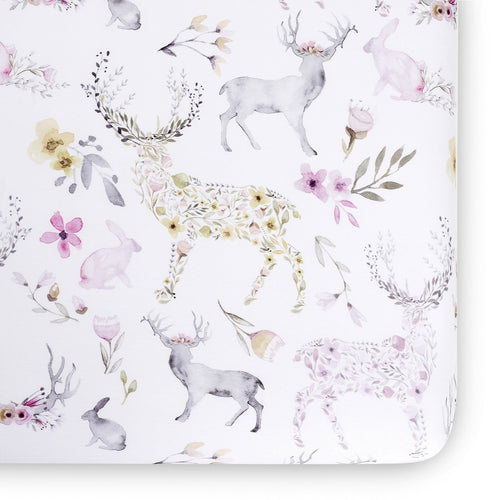 Oilo Fawn Jersey Crib Sheet Blush