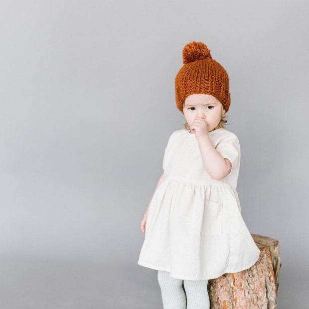 The Blueberry Hill - Cinnamon Single Pom Hat