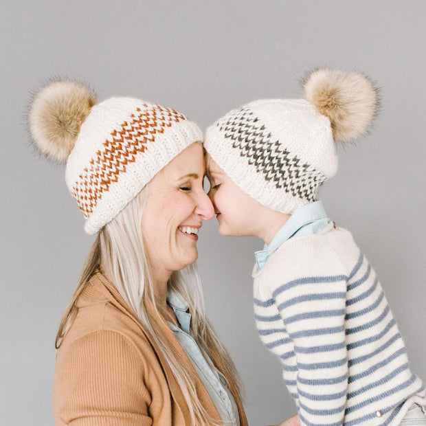 The Blueberry Hill - Blue Fair Isle Stripe Hat