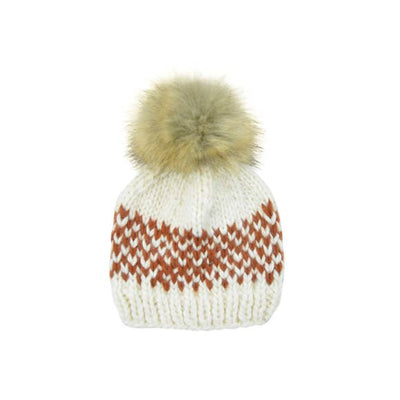 The Blueberry Hill - Cinnamon Fair Isle Stripe Hat
