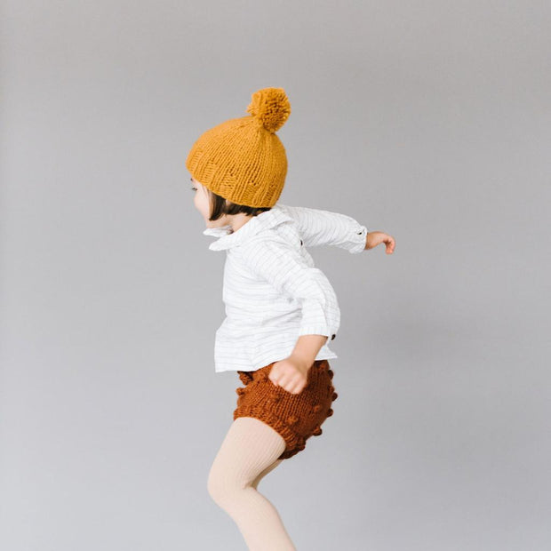 The Blueberry Hill - Mustard Single Pom Hat