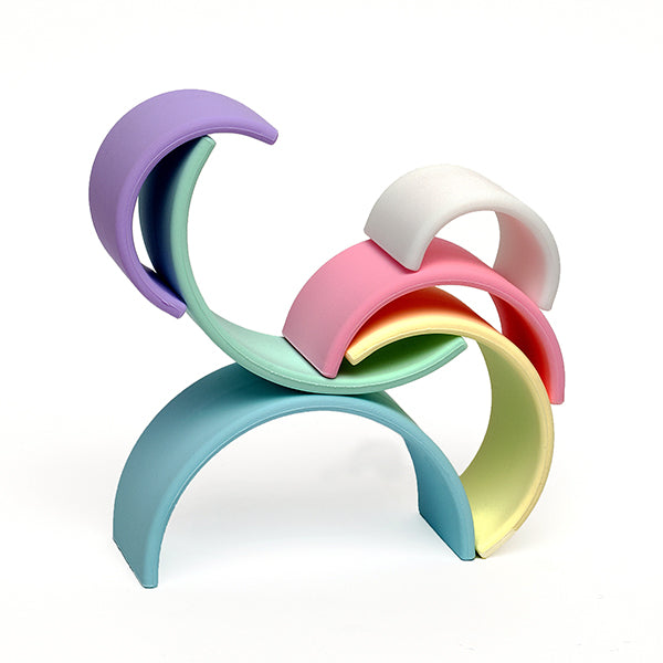 Dëna Rainbow Stacking Teether - Pastel