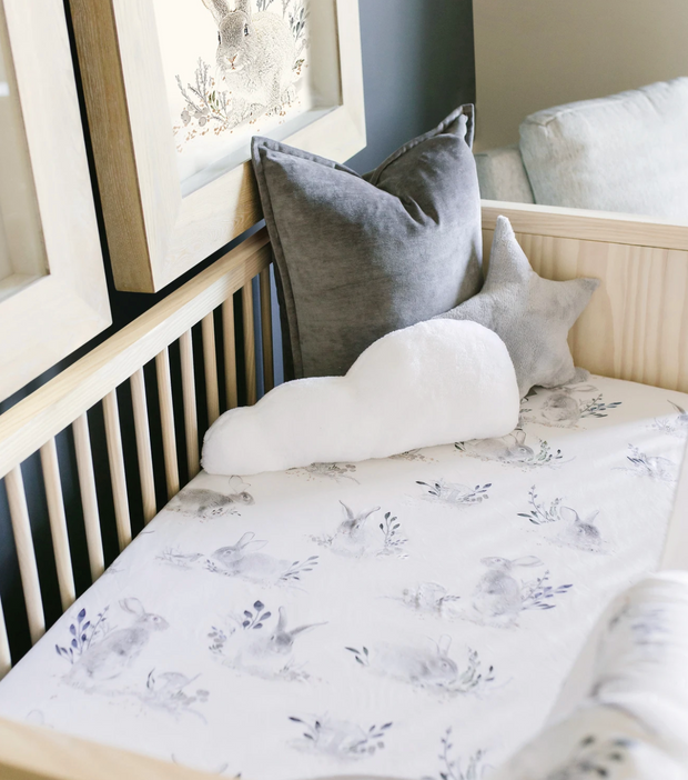 Oilo Jersey Crib Sheet - Cottontail
