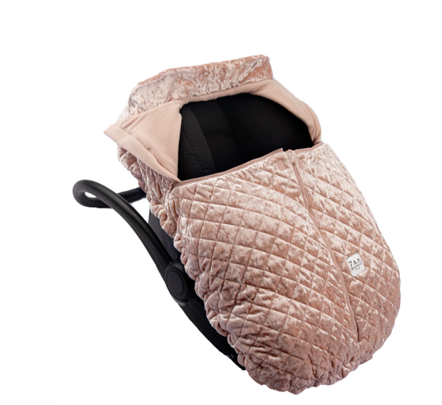 7 a.m. Enfant Cocoon Car Seat Cover in Velvet