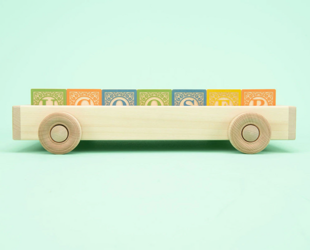 Uncle Goose ABC Blocks in Wagon