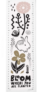 Wee Gallery Canvas Growth Chart – Bloom