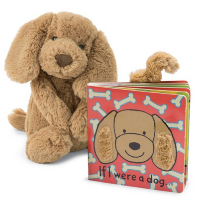 Jellycat If I Were a Dog + Bashful Toffee Puppy Gift Set