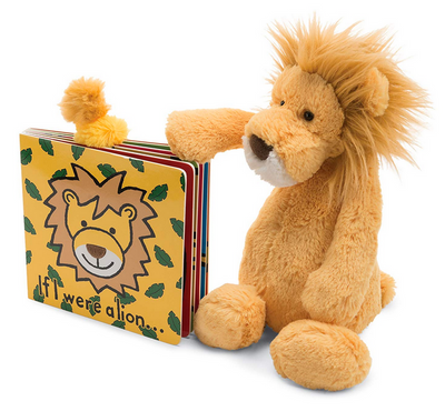 Jellycat If I Were a Lion + Bashful Lion Gift Set