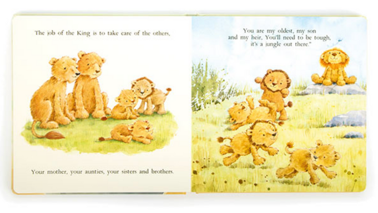 Jellycat The Very Brave Lion Board Book