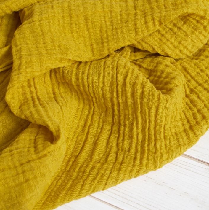 Sugar Maple Muslin Swaddle Mustard