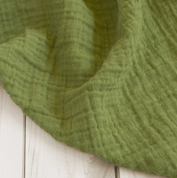 Sugar Maple Muslin Swaddle Olive Green