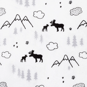 Trend Lab Deluxe Flannel Fitted Crib Sheet - Lumberjack Moose