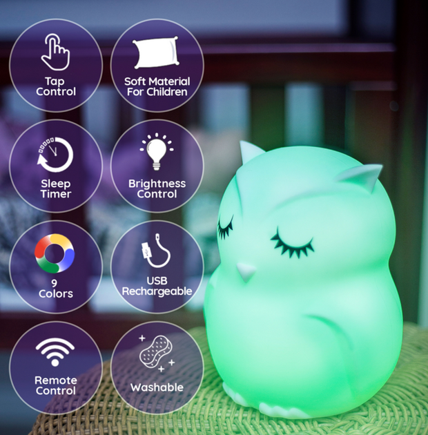 LumiPets Owl Nightlight Bluetooth Speaker