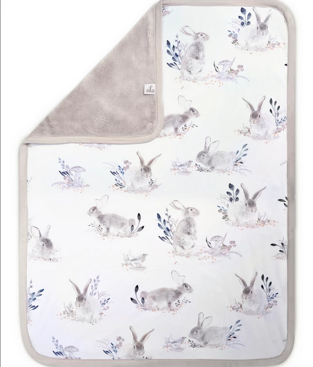 Oilo Cotton Tale Bunny Cuddle Blanket