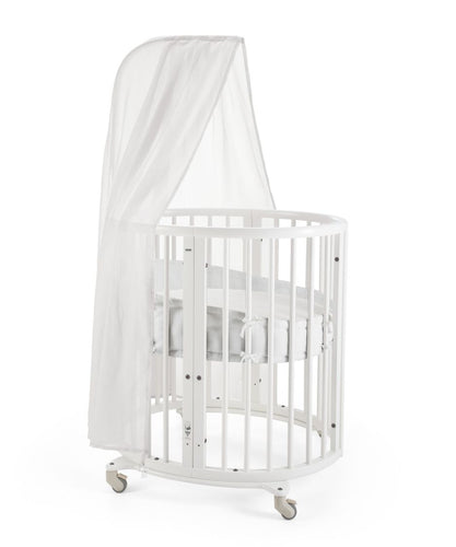Stokke Bassinet/ Mini Crib w/mattress and Drape Rod