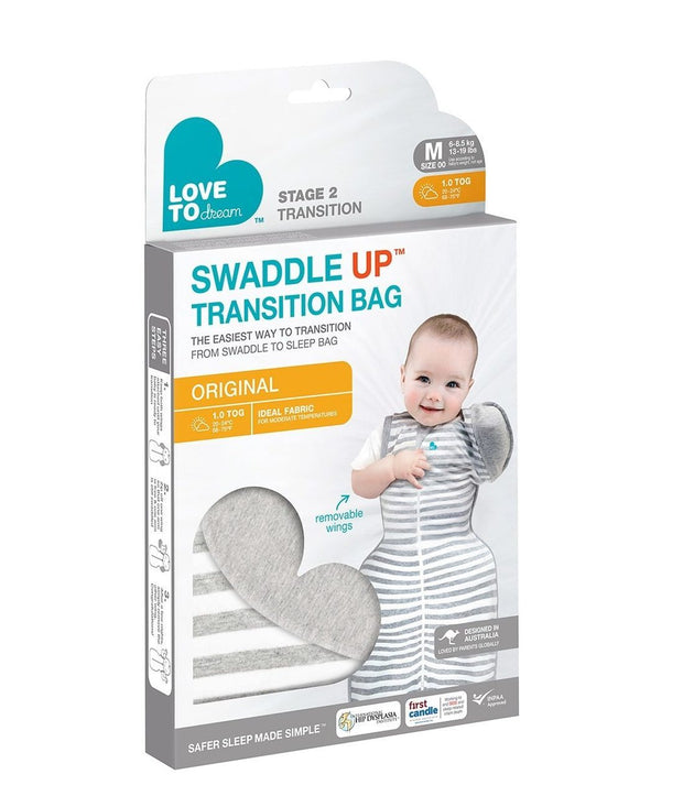 Love to Dream Swaddle Up 50/50 Transition Bag Original Gray