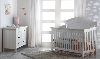 Pali Como Forever Crib and Dresser 2 Piece Set