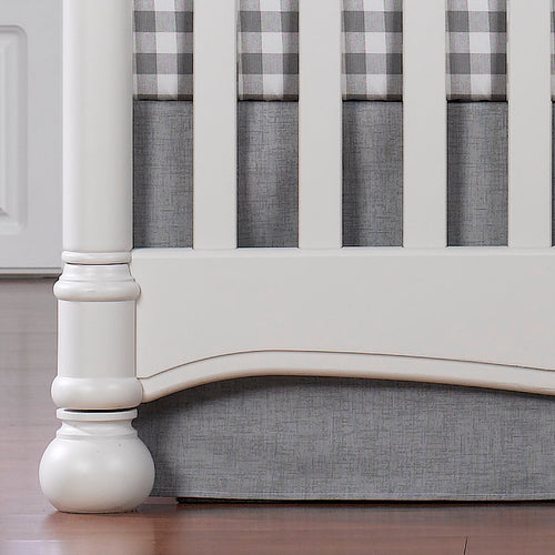 Liz and Roo Crib Skirt - Grey