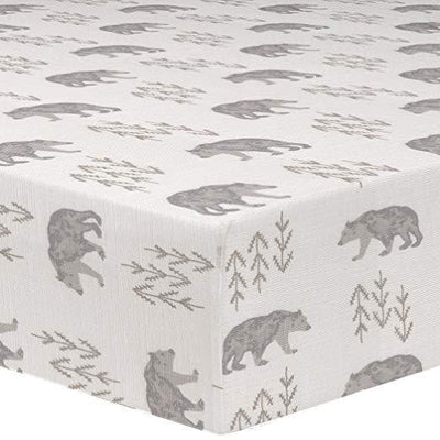 Liz & Roo Crib Sheet - Grey/Taupe Cubby