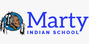 The Marty Indian School Shipping Label