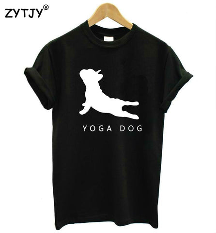 Yoga Dog Womens T-shirt