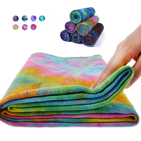 Multi-Coloured Yoga Mat Towels