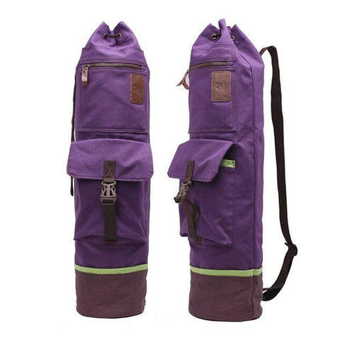 Cylinder Canvas Yoga Carry Bag