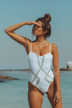 Load image into Gallery viewer, Amélie Swimsuit White Silver LIMITED EDITION