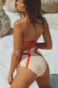 Adele Highwaist Bikini Bottom Delicate Red