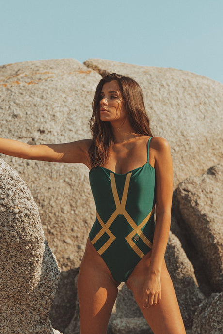 Amélie Swimsuit Emerald Gold