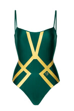 Load image into Gallery viewer, Amélie Swimsuit Emerald Gold PRE-ORDER