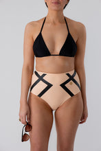 Load image into Gallery viewer, Sienna Triangle Bikini Top Black